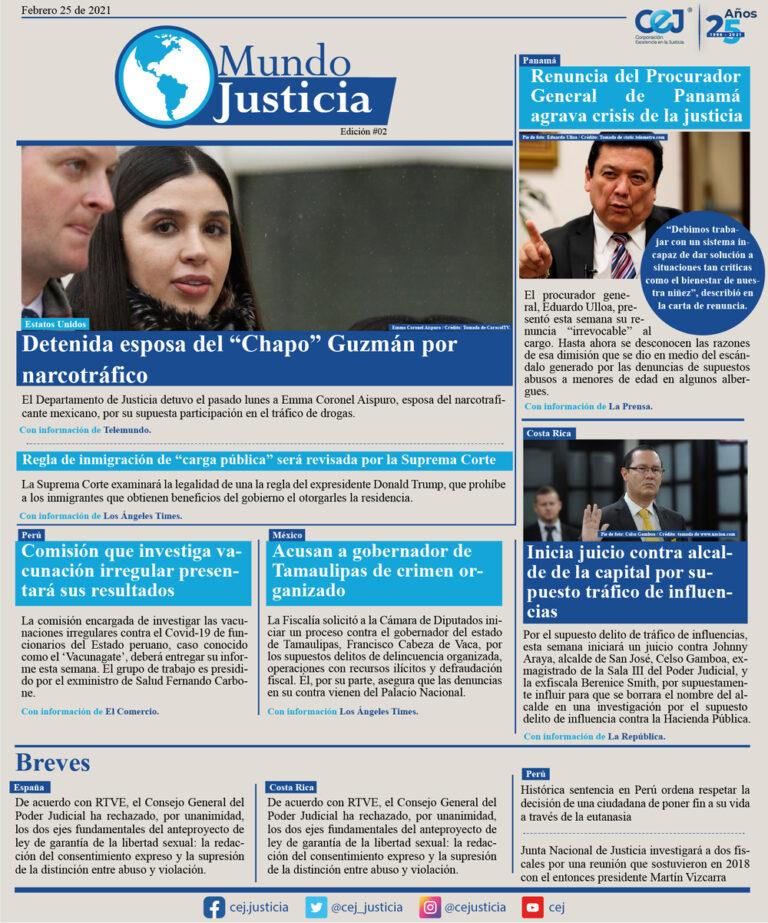 Mundo Justicia – 25 Febrero del 2021