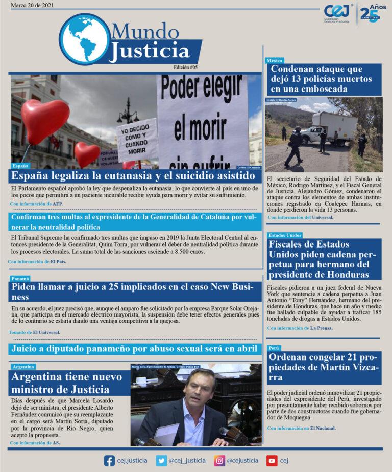 Mundo Justicia – 20 Marzo del 2021